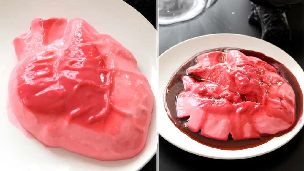 bleeding heart panna cotta