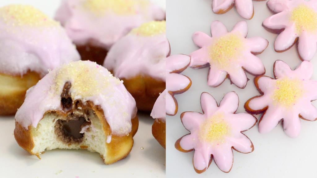 flower doughnuts