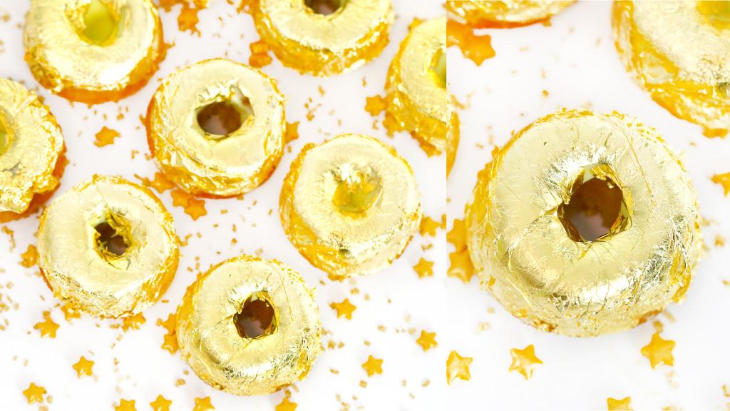 gold doughnuts