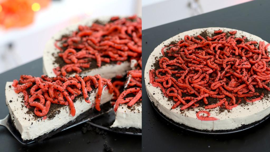 worm cheesecake